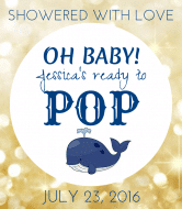 Baby Champagne Label - Oh Baby Ready to Pop
