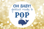 Baby Mini Champagne Label - Oh Baby Ready to Pop