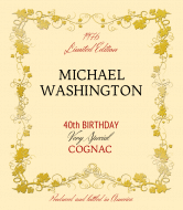Birthday Liquor Label - Cognac