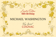 Birthday Mini Liquor Label - Cognac