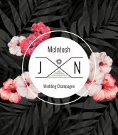 Wedding Champagne Label - Tropical Palms