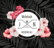 Wedding Beer Label - Tropical Palms