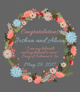 Wedding Wine Label - Floral Wedding