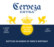 Birthday Beer Label - Cerveza