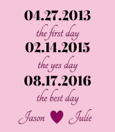 Wedding Champagne Label - Best Day Pink