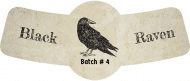 Expressions Bottle Neck Label - Black Raven