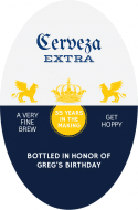 Oval Beer Label - Cerveza