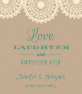 Wedding Wine Label - Burlap and Lace