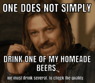 Expressions Beer Label - One Does Not Simply