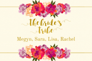 Wedding Mini Wine Label - The Bride's Tribe