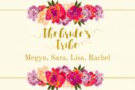 Wedding Mini Wine Label - The Bride's Tribe