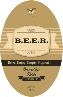 Expressions Oval Beer Label - B.E.E.R.