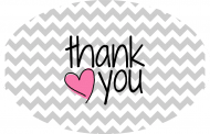 Expressions Sticker - Thank You Chevron