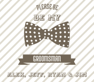 Wedding Beer Label - Groomsman
