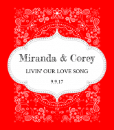 Wedding Wine Label - Country Bandana