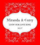 Wedding Wine Label - Country Bandana