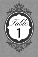 Wedding Table Number Label - French Riviera