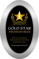 Oval Beer Label - Gold Star
