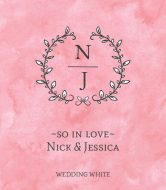 Wedding Wine Label - Pastel Colorwash