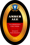 Oval Beer Label - Amber
