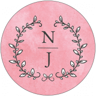 Wedding Label - Pastel Colorwash
