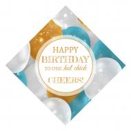 Birthday Wine Hang Tag - Balloon Sparkle