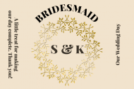 Wedding Mini Champagne Label - Bride's Treat