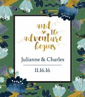 Wedding Wine Label - The Adventure Begins