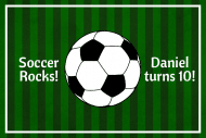 Birthday Gift Tag - Soccer Birthday
