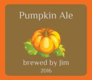 Holiday Beer Label - Pumpkin Ale