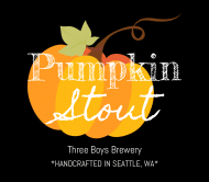Holiday Beer Label - Pumpkin Stout