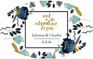 Wedding Sticker - The Adventure Begins