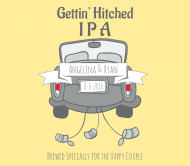 Wedding Beer Label - Getting Hitched