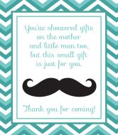 Baby Wine Label - Mustache Shower