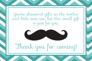 Baby Mini Wine Label - Mustache Shower