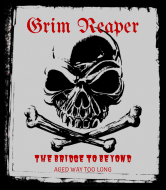 Holiday Wine Label - Grim Reaper