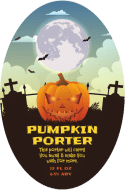 Holiday Oval Beer Label - Pumpkin Porter