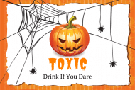 Holiday Mini Wine Label - Halloween Party