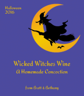 Holiday Wine Label - Wicked Witches Wine