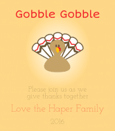 Holiday Wine Label - Gobble Gobble