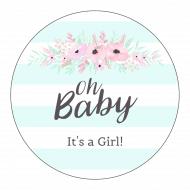 Baby Sticker - Flower Bough