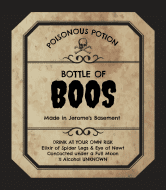 Holiday Wine Label - Halloween Potion