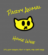 Expressions Wine Label - Party Animal