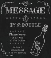 Wedding Wine Label - Message in a Bottle