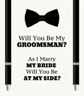 Wedding Wine Label - Stand With Me