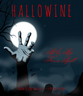 Holiday Wine Label - Hallowine