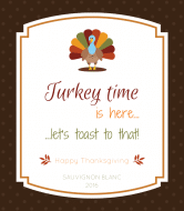 Holiday Wine Label - Turkey Time
