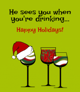 Holiday Wine Label - Santa is Coming