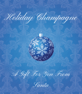 Holiday Champagne Label - Blue Christmas
