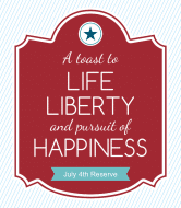 Holiday Wine Label - Liberty